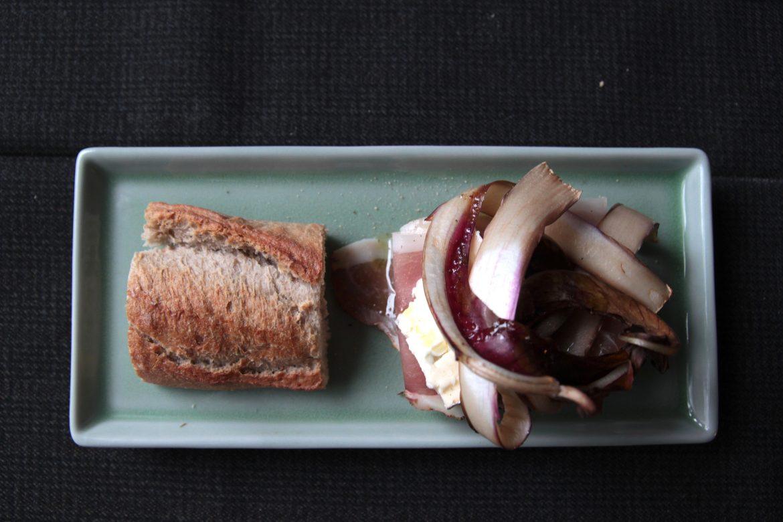 Ricetta Baguette con radicchio, speck, formaggio e miele