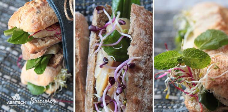 ricetta con Mini panini con merluzzo marinato, bietoline e germogli