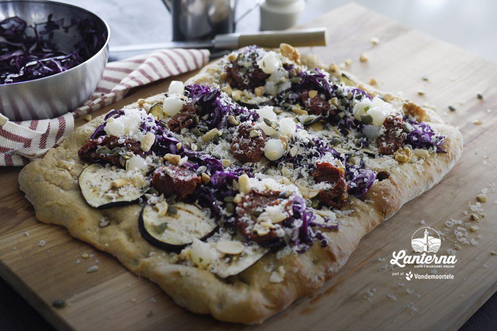 Ricetta Base Pinsa ai Cereali con Cavolo Cappuccio Viola