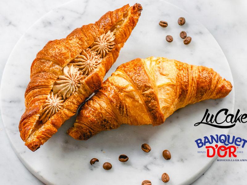 Croissant con crema al mascarpone e caffè